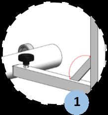 zoom thanh đỡ nghiêng nối liền đế với trụ